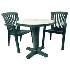 Marte 3 Piece Round Dining Set