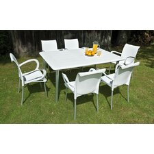 Maestrale 220cm Table Set in White