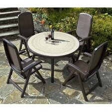 Colosseo 120cm Ravenna Table with Beta Chairs in Coffee