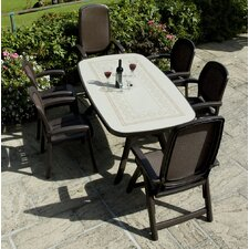 Toscana 165cm Ravenna Table with Delta Chairs in Coffee