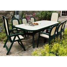 Toscana 250cm Ravenna Table with Delta Chairs And Beta Chairs in Green