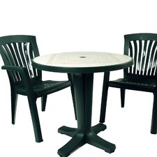 Marte 3 Piece Round Ravenna Dining Set with Elba Wicker Chair