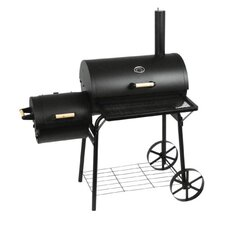 Barbecue-Smoker-Grill in Schwarz