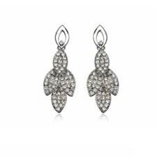 Fashion Leaf Style Earrings with Swarovski Elements