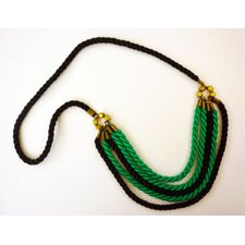 Rachel Paula Turquoise and Black Silk Rope Necklace