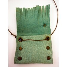Rachel Paula Leather Pouch Necklace
