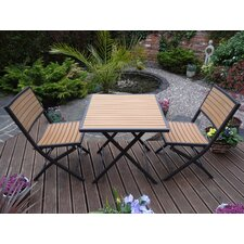 Florida Bistro 3 Piece Square Dining Set