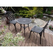 Belleu Bistro 3 Piece Round Dining Set