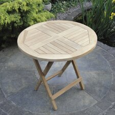Teak Mini Round Folding Table