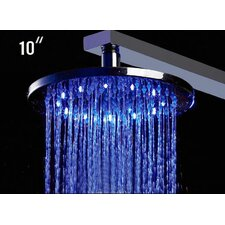 "10"" Round LED Rain Shower Head"