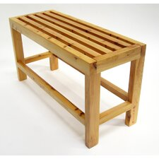 Solid Wood Slated Bench
