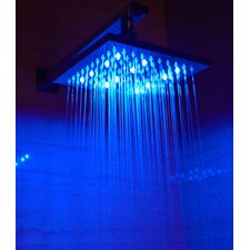 "8"" Square LED Rain Shower Head"