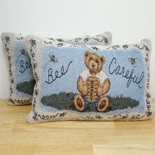 Bee Careful Pillow (Set of 2)