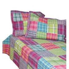Madras Plaid 3 Piece Quilt Set