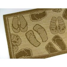 Flip Flops Chocolate Novelty Rug