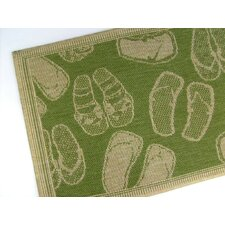 Flip Flops Emerald Novelty Rug
