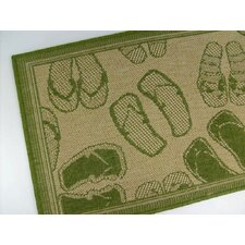 Flip Flops Honey/Emerald Novelty Rug