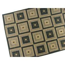 Pyramid Blocks Black Indoor/Outdoor Rug