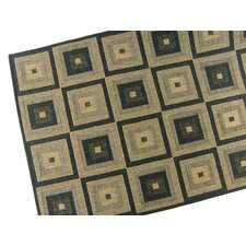 Pyramid Blocks Black Rug
