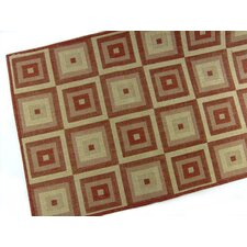 Pyramid Blocks Terracotta Indoor/Outdoor Rug