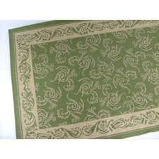 Scroll Emerald Indoor/Outdoor Rug