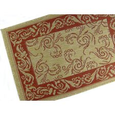 Scroll Terracotta Indoor/Outdoor Rug