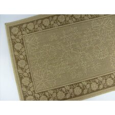 Summer Vine Honey/Chocolate Indoor/Outdoor Rug