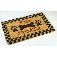 Bone Appetite Outdoor Coir Doormat