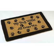 My Dog Walks Outdoor Coir Doormat