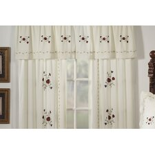 Indian Summer Cotton Blend Rod Pocket Tailored Curtain Valance