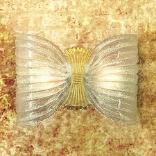Butterfly 2 Light Wall Light Leaf by Marina Toscano