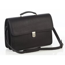 Oversized Leather Briefcase