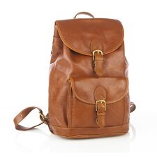 Drawstring Backpack with Front Buckle Pocket