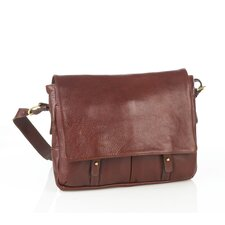 Leather Messenger Bag with Two Front Pockets