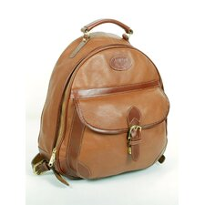 <strong>Aston Leather</strong> Half-Moon Zippered Backpack