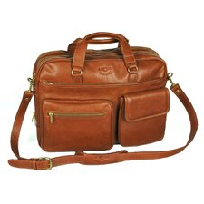 Double Compartment Top Zipper Briefcase