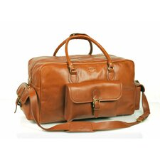 "18"" Leather Overnight Carry-On Duffel"