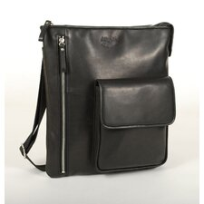 <strong>Aston Leather</strong> Vertical Shoulder Bag
