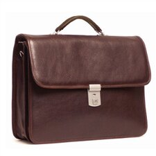 Double Compartment Briefcase with One Clasps