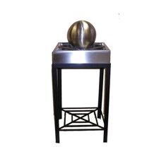 Square Tabletop Sphere Fountain with Legs