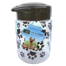 64 Oz Plastic Dog Treat Jar