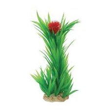 Natural Elements Flowering Blyxa Aquarium Ornament in Green / Red