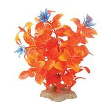 Natural Elements Flaming Ludwigia Aquarium Ornament in Orange
