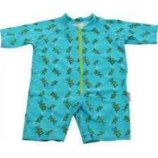 <strong>A Little Splash</strong> One Piece Rush Guard in Scuba Bear Print