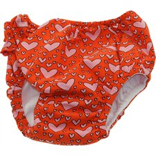 Waterproof Swim Diaper in Loving Heart Print