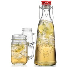 Ice Cold 3 Piece Bottle Jar Set