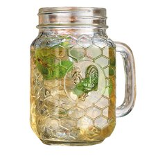 Country Chic Hand Mason Jar Glass (Set of 4)