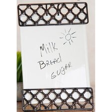 <strong>Home Essentials</strong> Press Metal Ceramic Memo Board