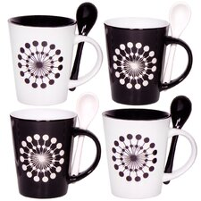 Target 10 oz. Mug and Spoon (Set of 4)