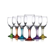 Carnival Color 9 oz. Wine Glass (Set of 6)